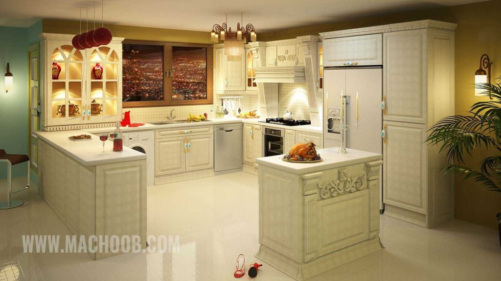 پروژه کابینت آشپزخانه ممبران ماچوب (آقای حسن زاده)
