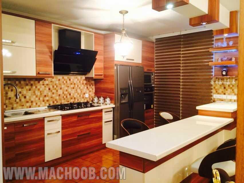 پروژه کابینت آشپزخانه های گلاس ماچوب (خانم جم)