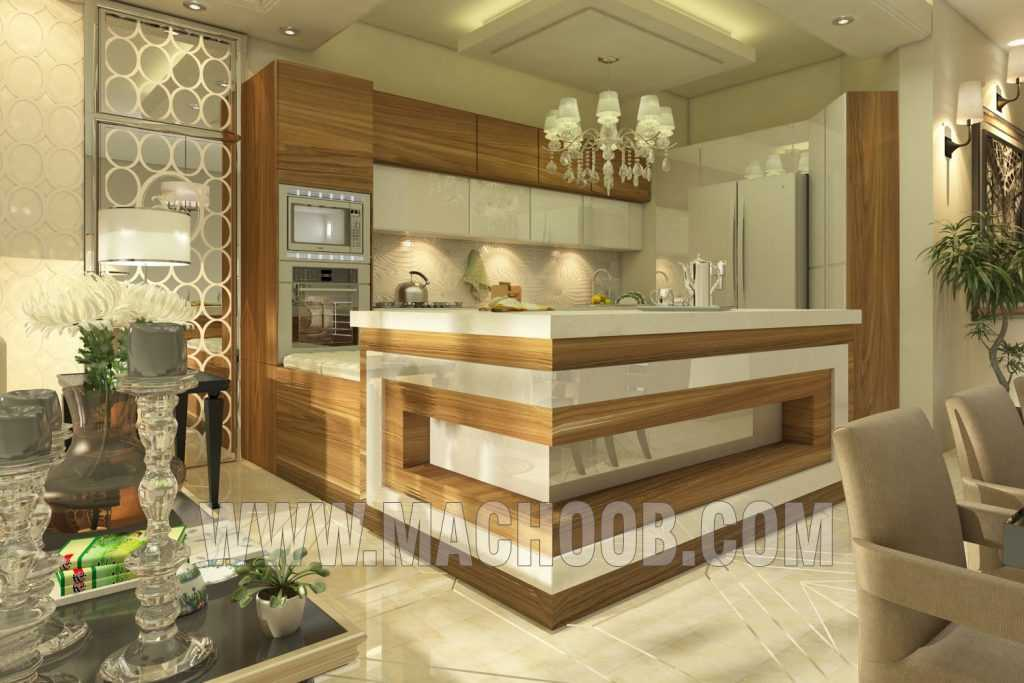 پروژه کابینت آشپزخانه ام دی اف ماچوب (آقای مجیدی)