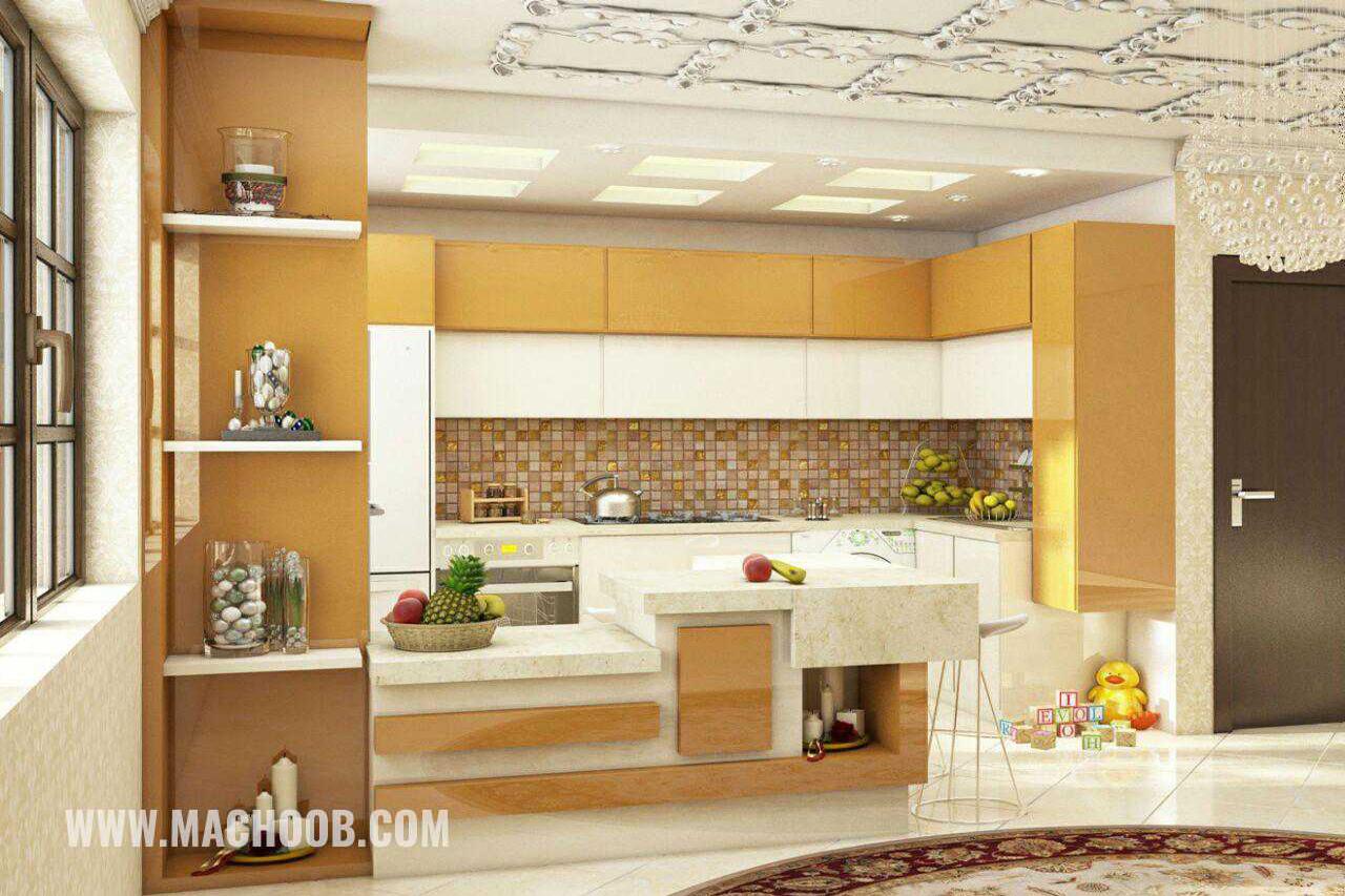 پروژه کابینت آشپزخانه لامی گلاس ماچوب (آقای ملکان)