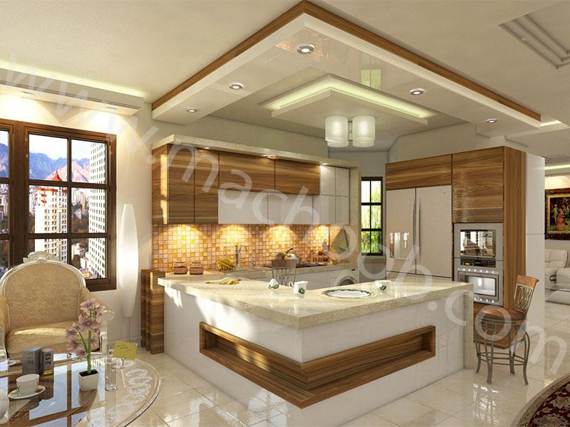 پروژه کابینت آشپزخانه هایگلس ماچوب (آقای معزی)