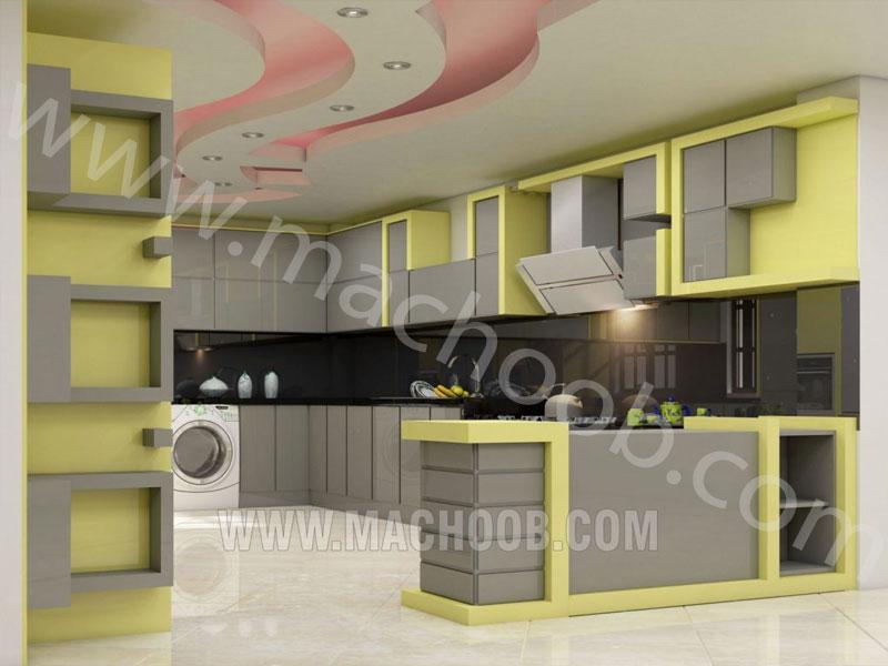 پروژه کابینت آشپزخانه ام دی اف ماچوب (خانم مفتح)