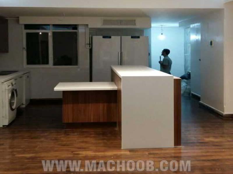 پروژه کابینت آشپزخانه ام دی اف ماچوب (آقای محمد خانی)