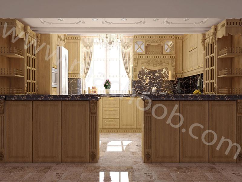 پروژه کابینت آشپزخانه روکش چوب ماچوب (آقای مرادی)