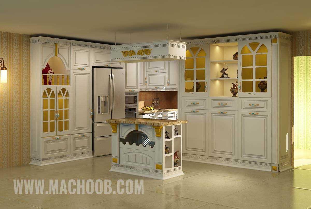 پروژه کابینت آشپزخانه روکش چوب ماچوب (آقای نیاورانی)