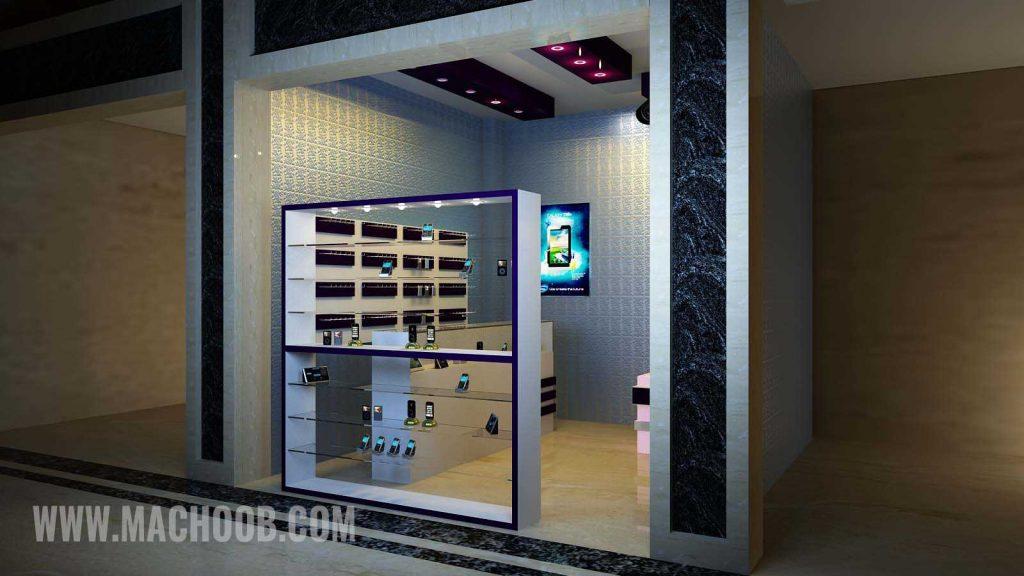 پروژه دکوراسیون مغازه (موبایل فروشی)