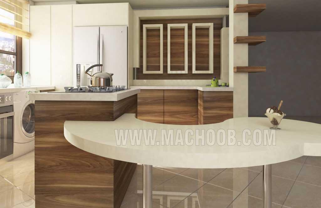 پروژه کابینت آشپزخانه ام دی اف مات ماچوب (آقای رضاییان)