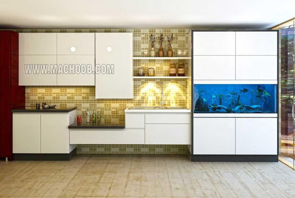 پروژه کابینت آشپزخانه های گلاس ماچوب (خانم ساقیان)