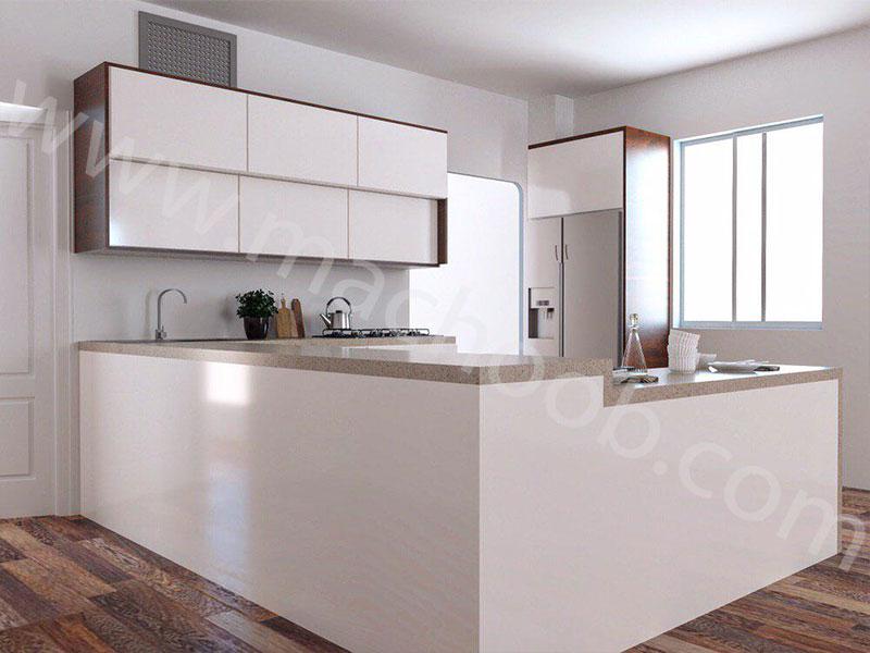 پروژه کابینت آشپزخانه هایگلاس ماچوب (آقای صدیقی)