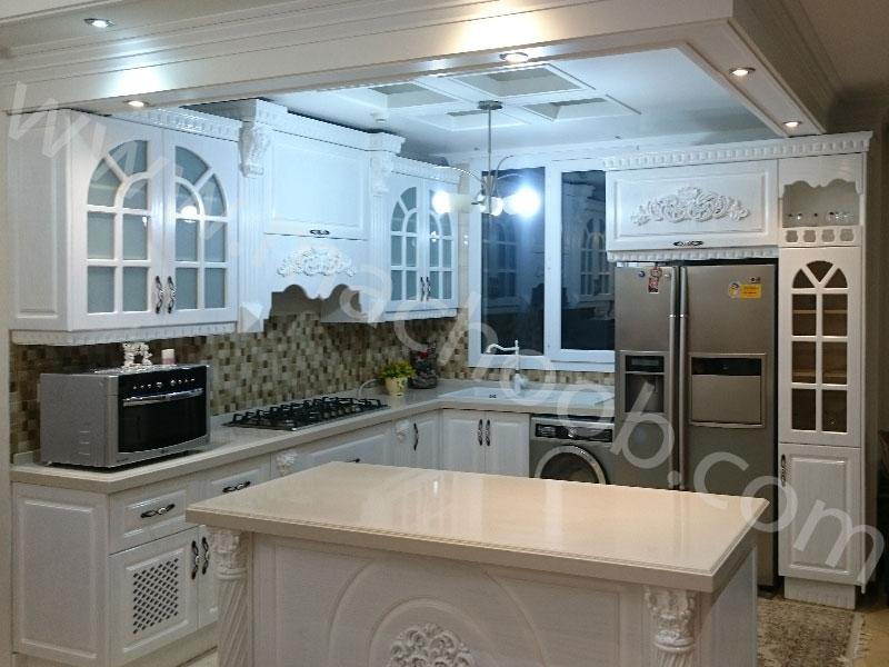 پروژه کابینت آشپزخانه روکش وکیوم ماچوب (آقای شمس الدین)