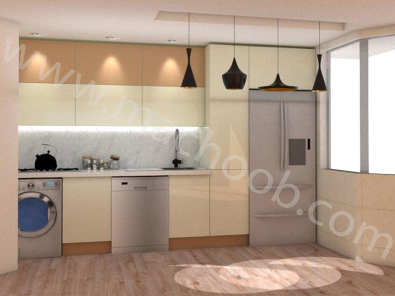 پروژه کابینت آشپزخانه هایگلس ماچوب (آقای زندی)