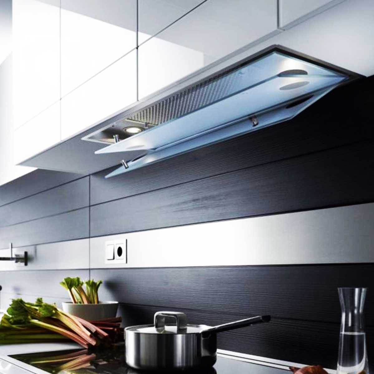 آشپزخانه مدرن با هود مخفی